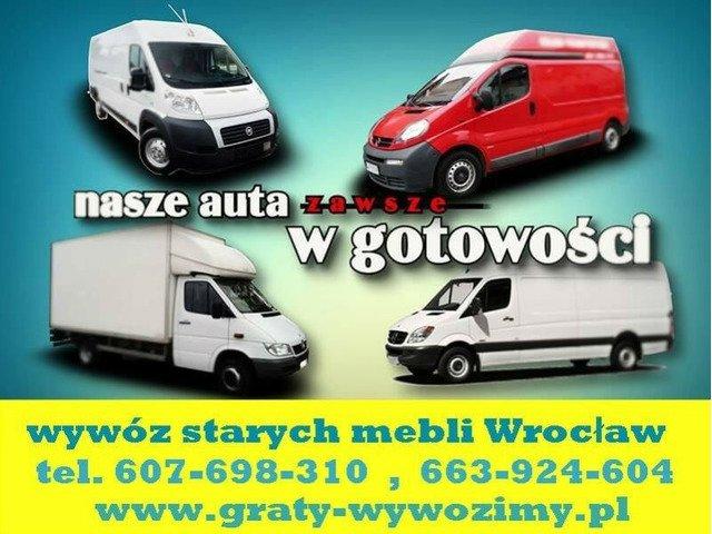 Wywóz starych mebli Wrocław,opróżnianie mieszkań,piwnic,wywóz wersalek,meblościanek,utylizacja
